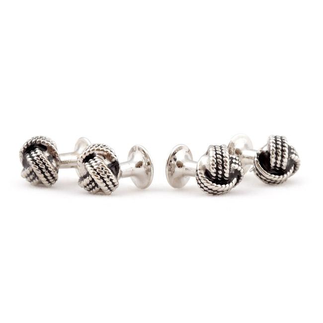 Silver Knot Tuxedo Stud Set Cufflinks And Studs