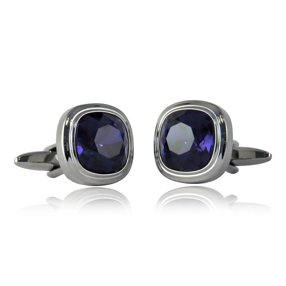 Purple Velvet Crystal Stylin Cufflinks