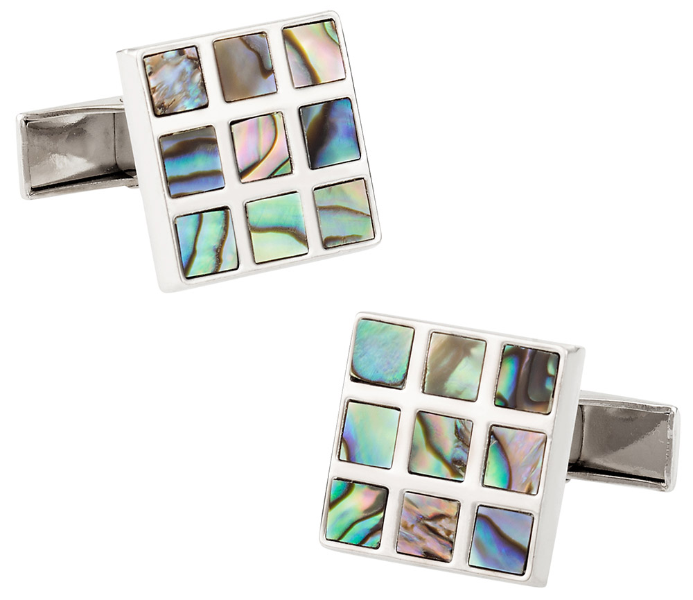 Abalone Unique Cufflinks