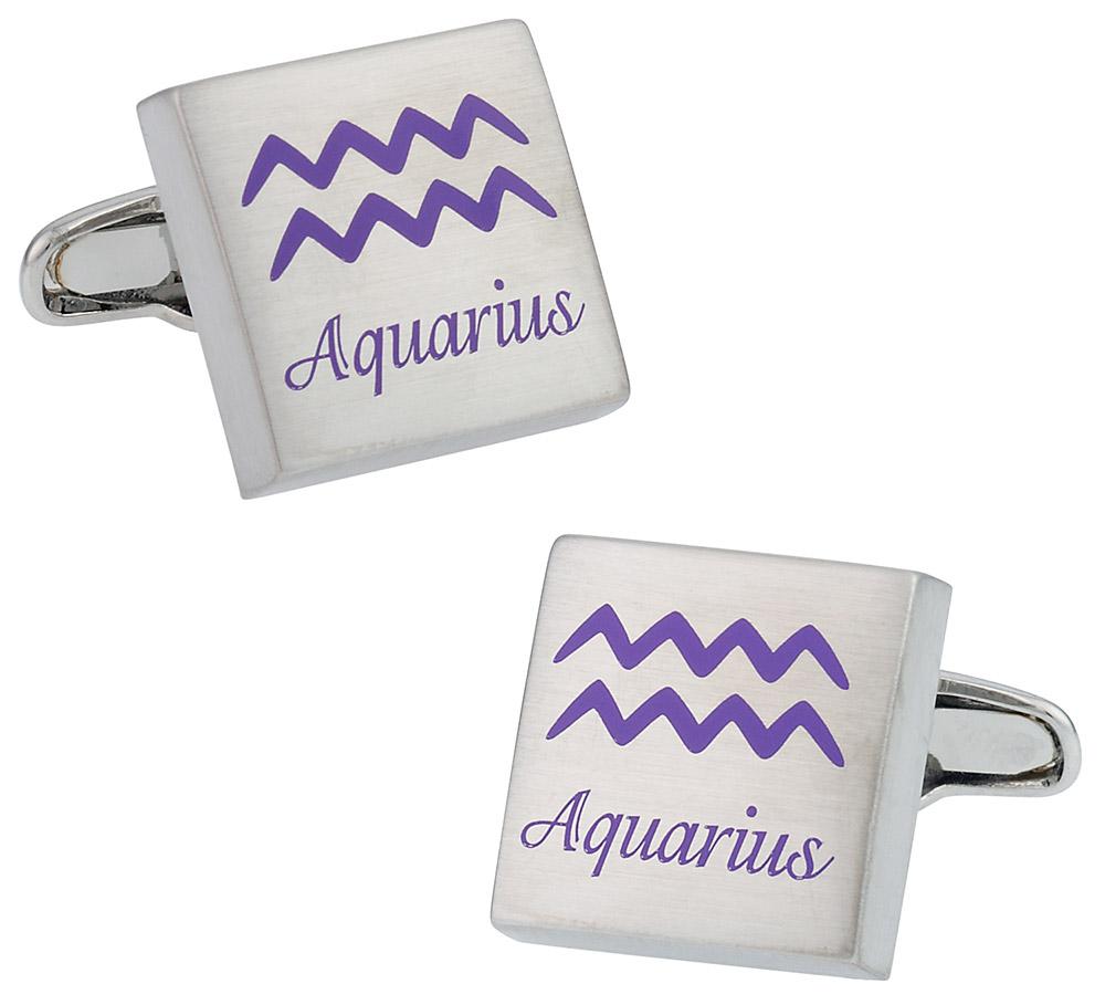 Aquarius Horoscope Cufflinks
