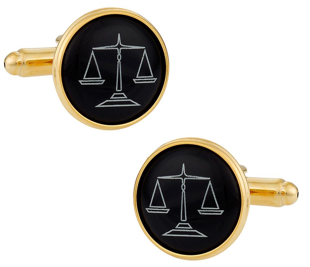 Lawyer Cufflinks in Gold
