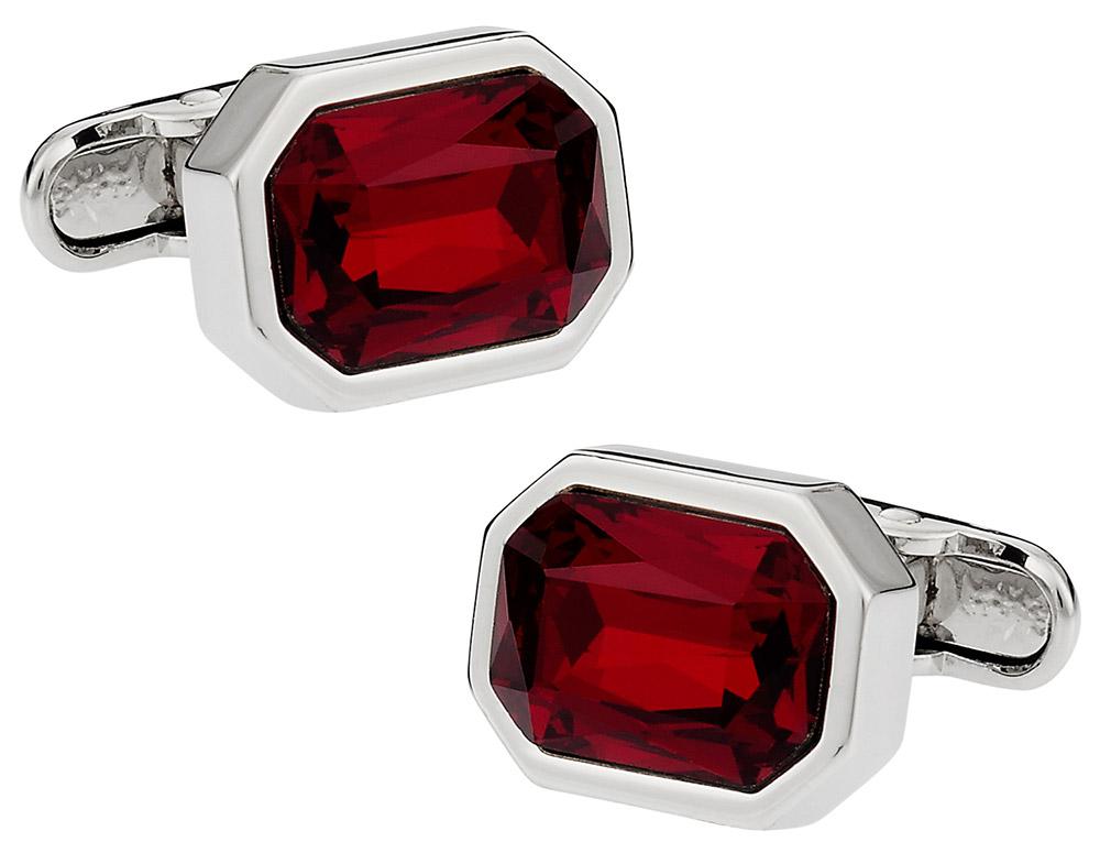 Michael Soho Design Shimmering Siam Red Cufflinks