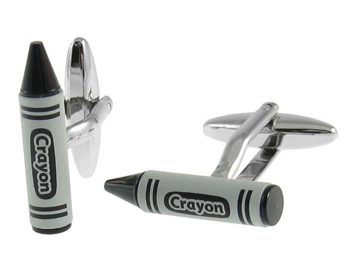 Black Crayon Cufflinks