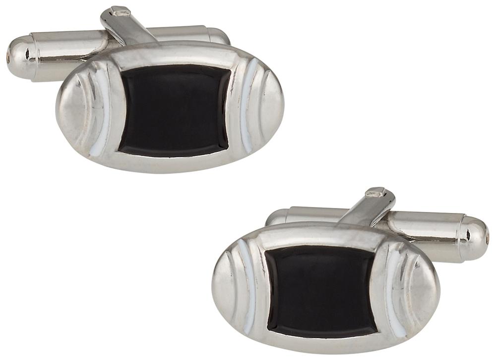 Black Enamel Cufflinks