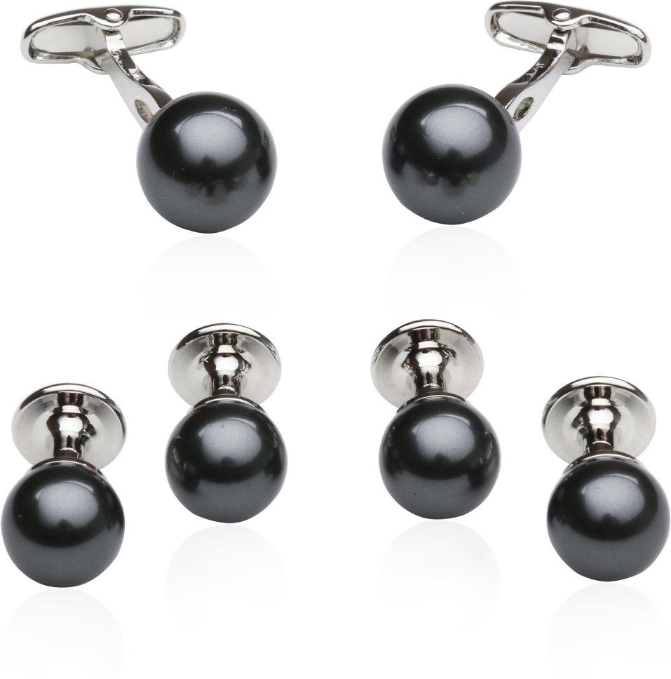 Black Swarovski Pearl Formal Set