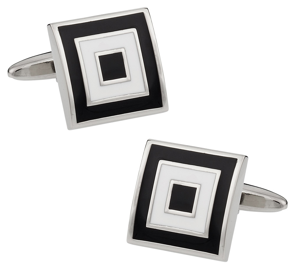 Black White Bullseye Cufflinks