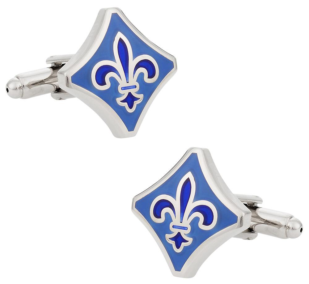 Blue Fleur De Lis Cufflinks