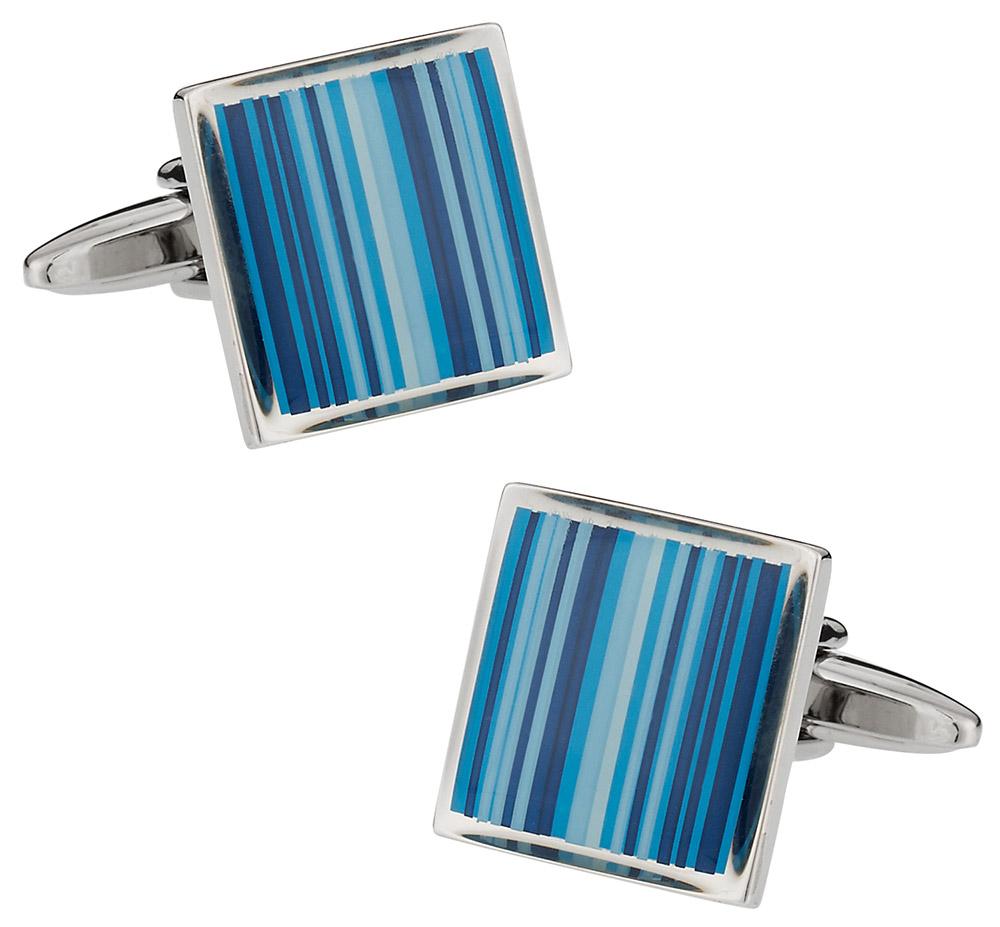 Blue Series Striped Cufflinks