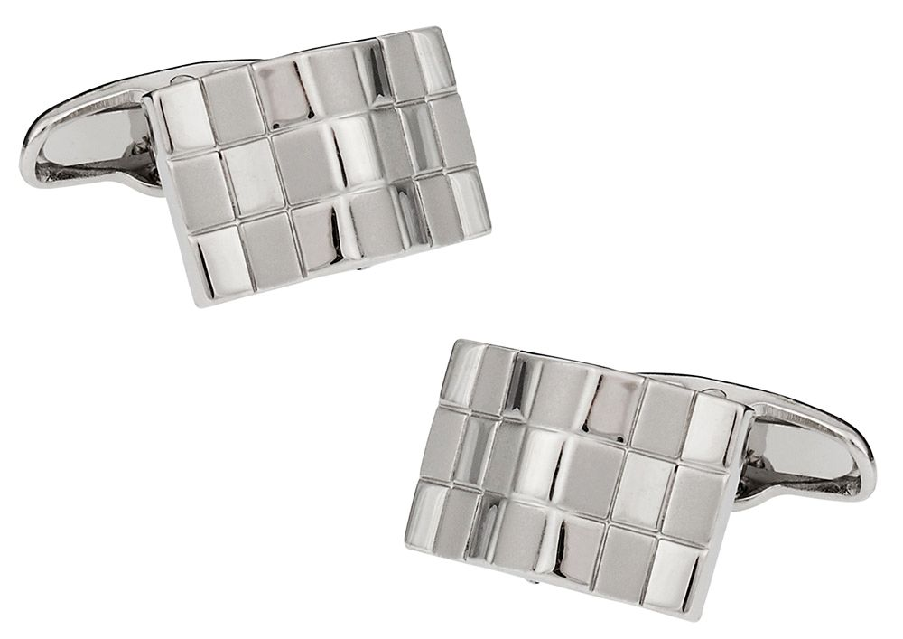 Bowed Checkerboard Cufflinks