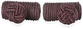 Brown Silk Knot Cufflinks