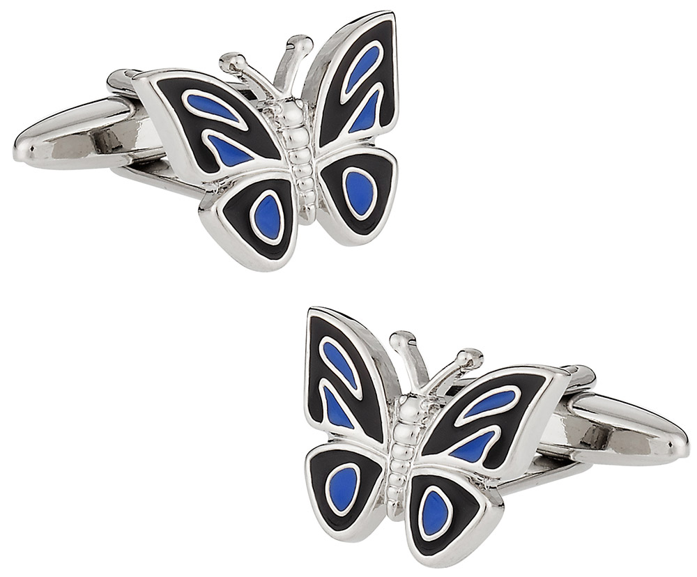 Butterfly Cufflinks in Enamel