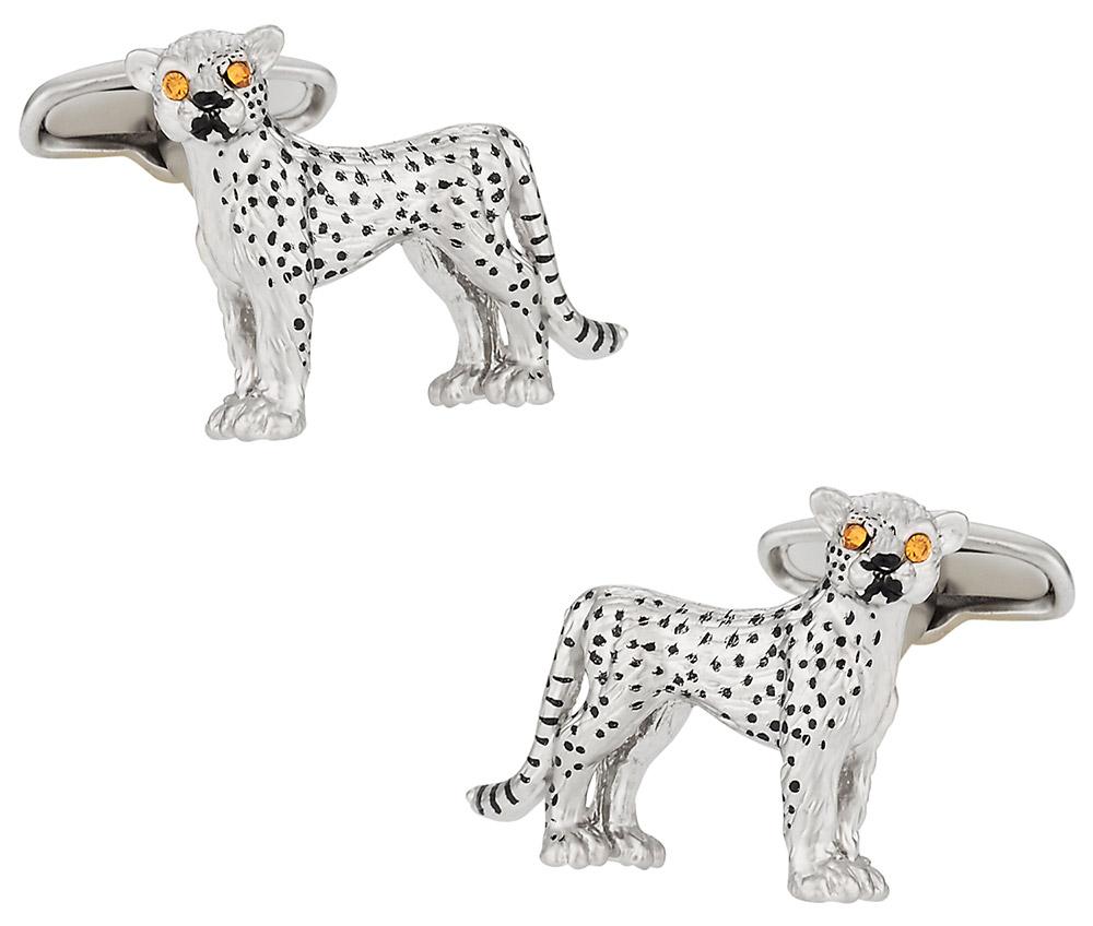 Cheetah Cufflinks Swarovski