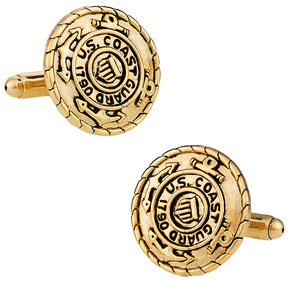 Gold Coast Guard Cufflinks USCG