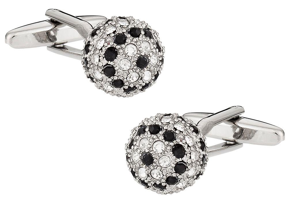Crystal Ball Cufflinks in Black Clear
