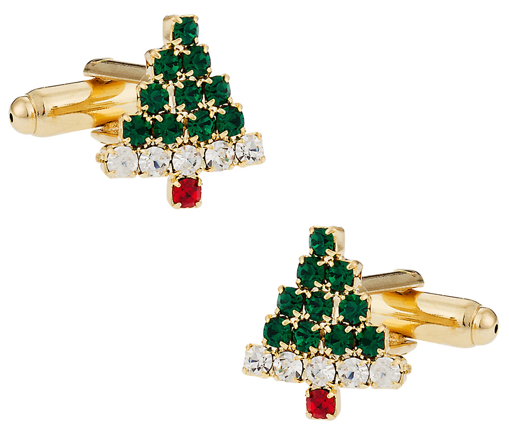 Crystal Christmas Cufflinks