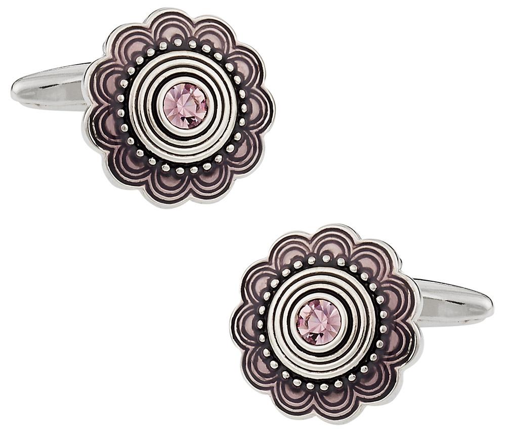 Pink Crystal Cuffs