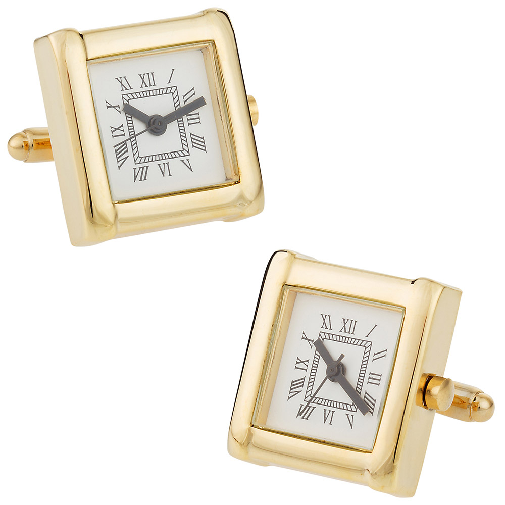 Elegant Watch Cufflinks