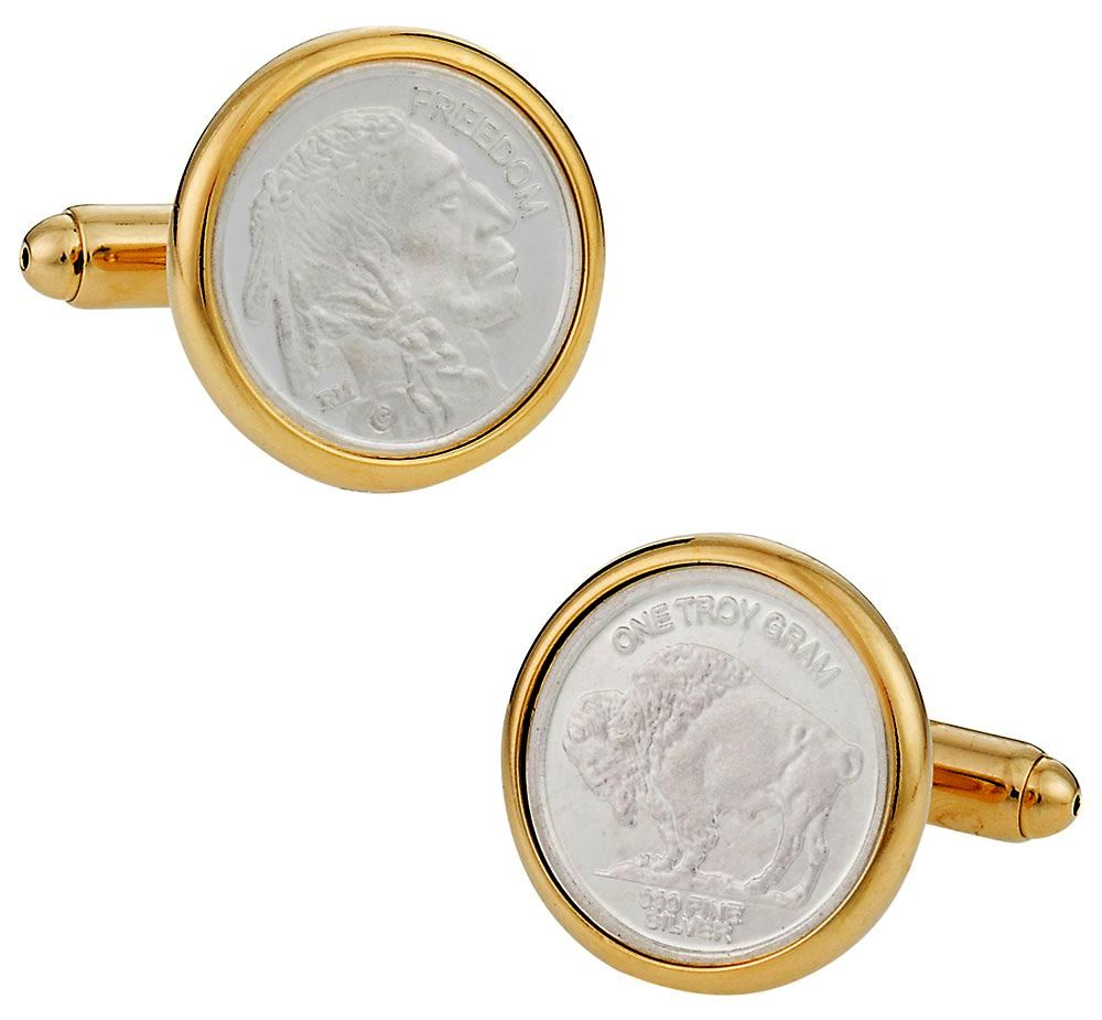 Genuine Silver Bullion Coin Cufflinks | Canada Cufflinks