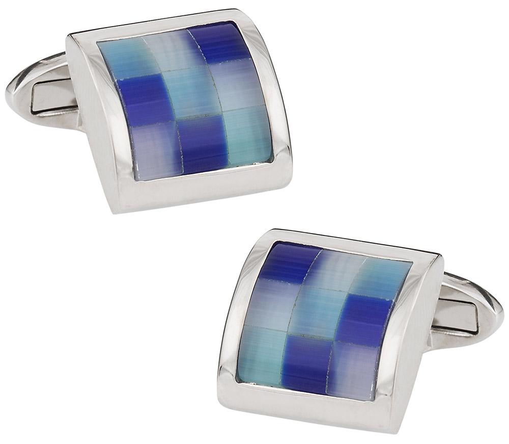 Blue Glass Mosaic Cufflinks