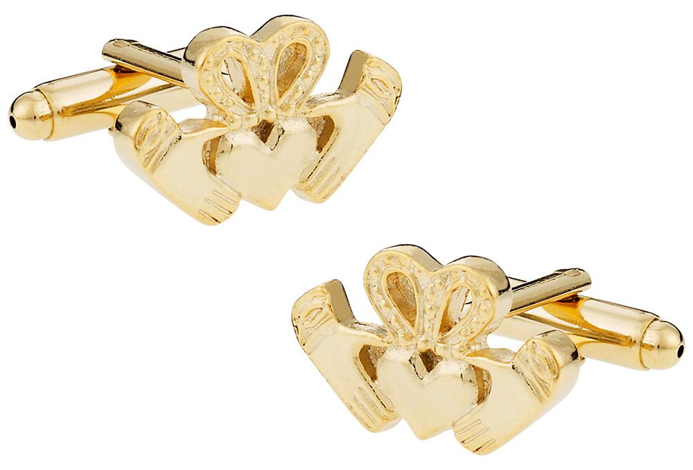 Gold Claddagh Cufflinks