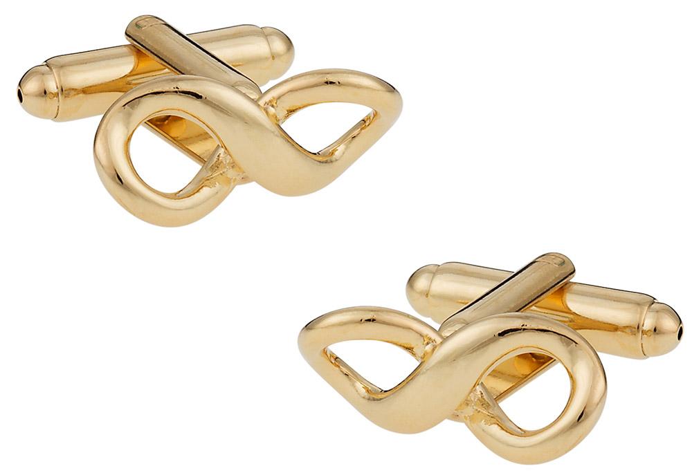 Gold Infinity Cufflinks   Canada Cufflinks