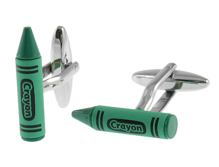 Green Crayon Cufflinks