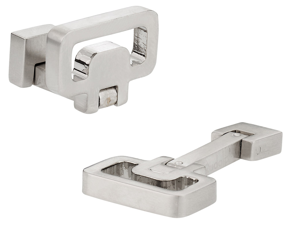 Innovative Brushed Silver Cufflinks