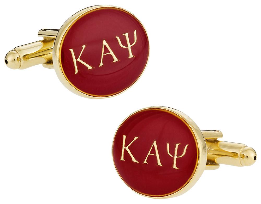 Kappa Alpha Psi Red Gold Cufflinks