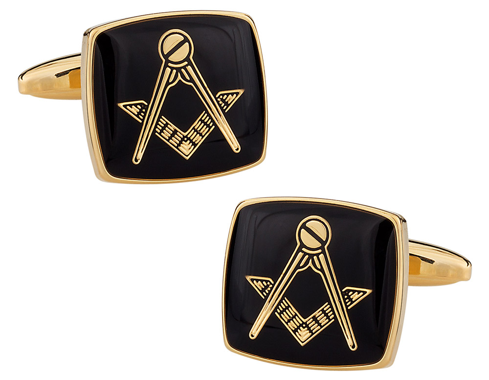 Black and Gold Masonic Cufflinks