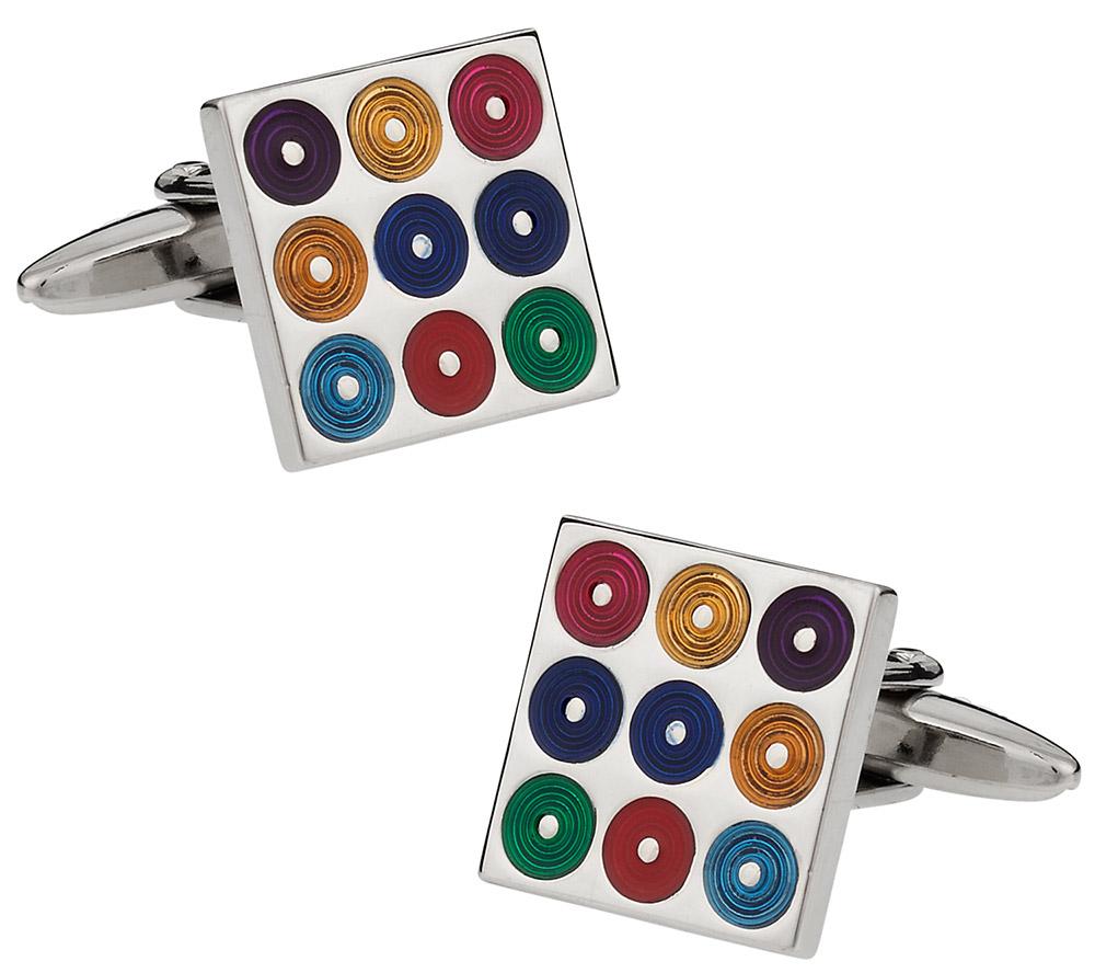 Multi-Color Turntables Cufflinks