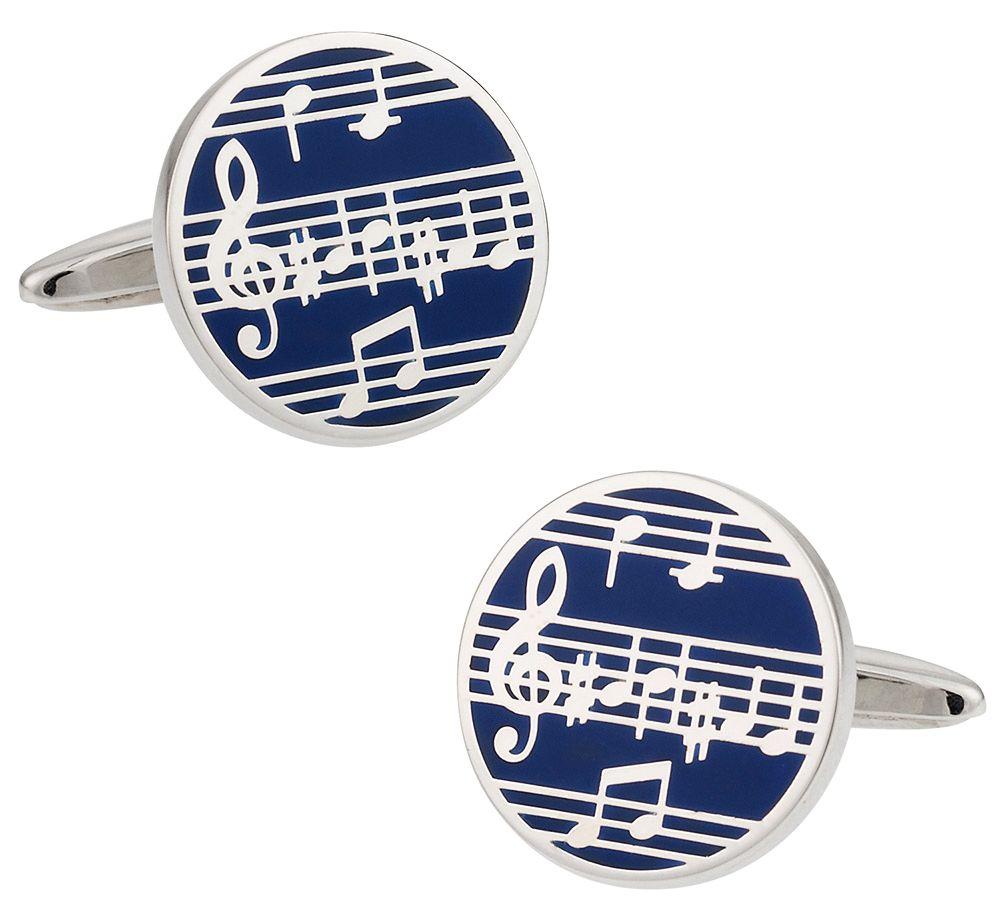 Music Cufflinks in Enamel