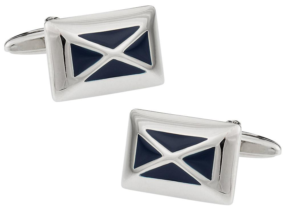 Navy X Cufflinks for Men