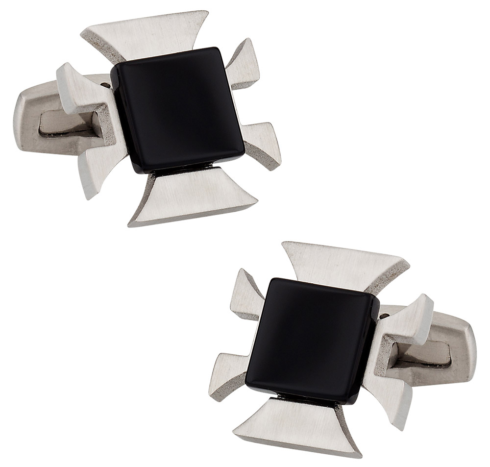 Onyx Cross Cufflinks