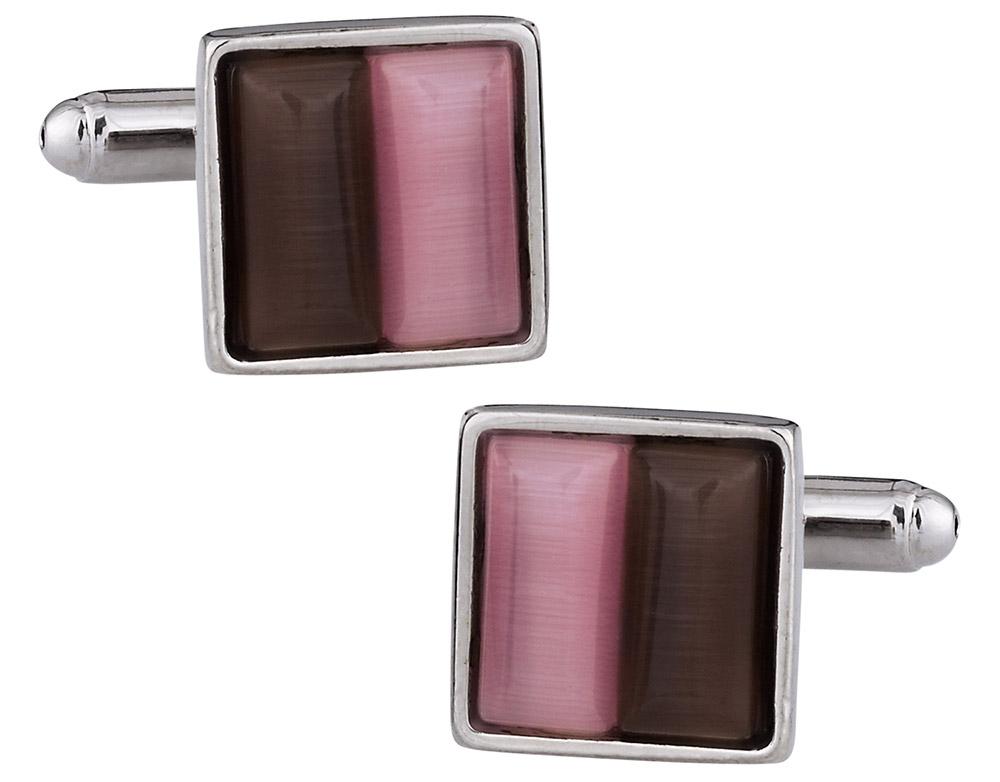 Pink & Coffee Cufflinks