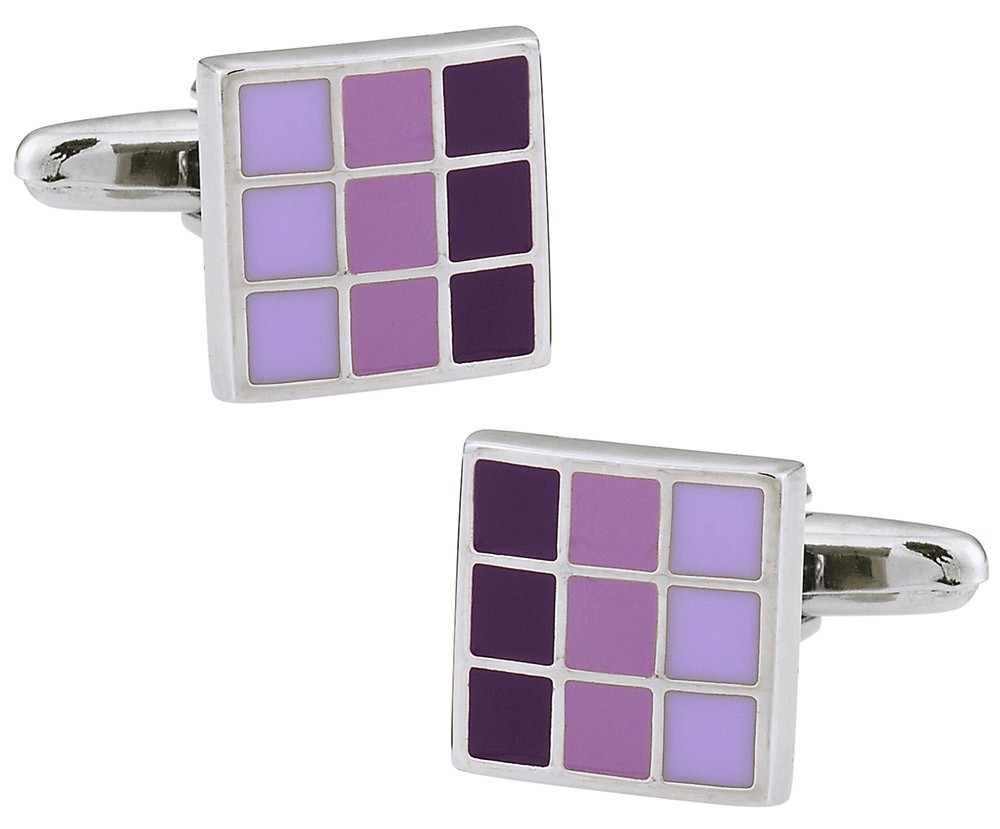 Purple Enamel Cufflinks