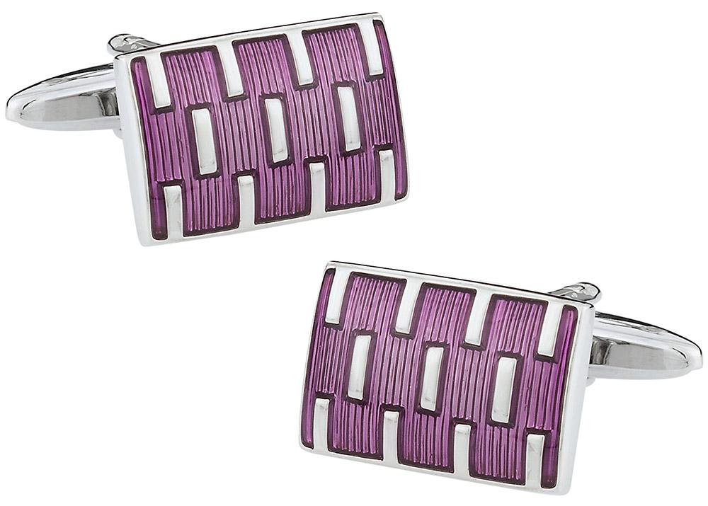 Purple Galvanized Cufflinks