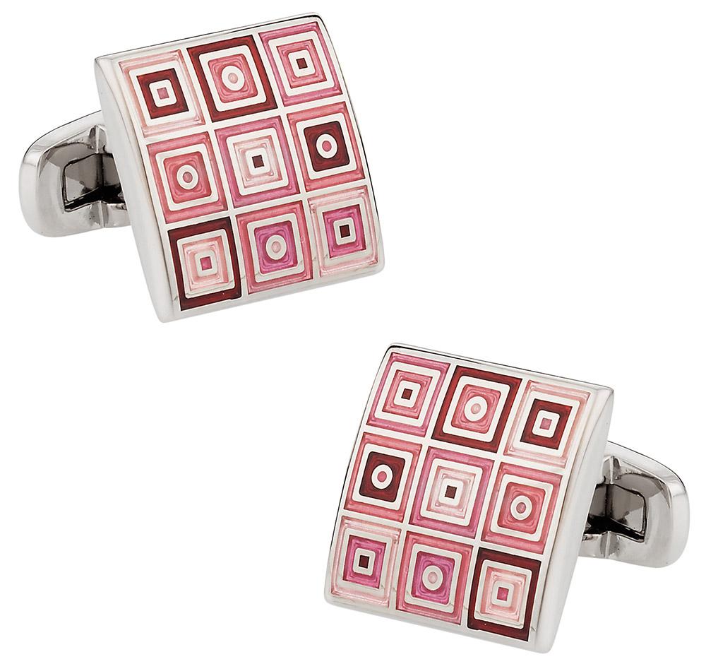 Quilted Cufflinks in Pink   Canada Cufflinks