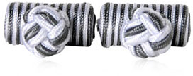 Silver Gray Silk Knots