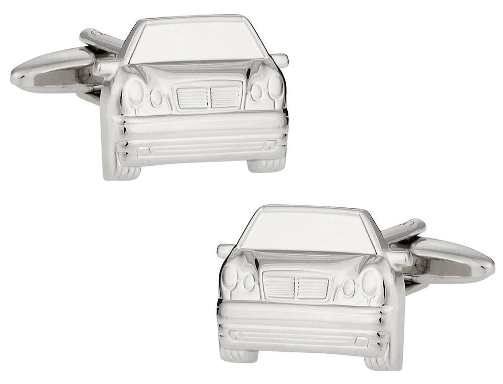 Silvertone Luxury Car Cufflinks