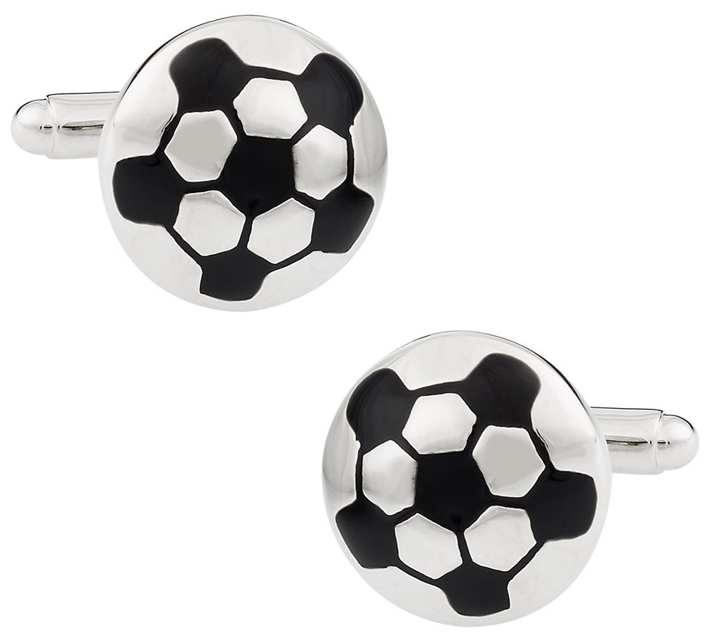 Silver Football Cufflinks