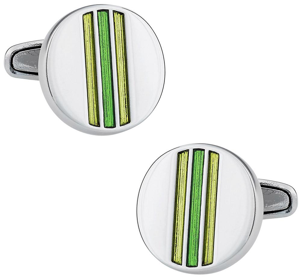 Striped Yellow & Green Cufflinks