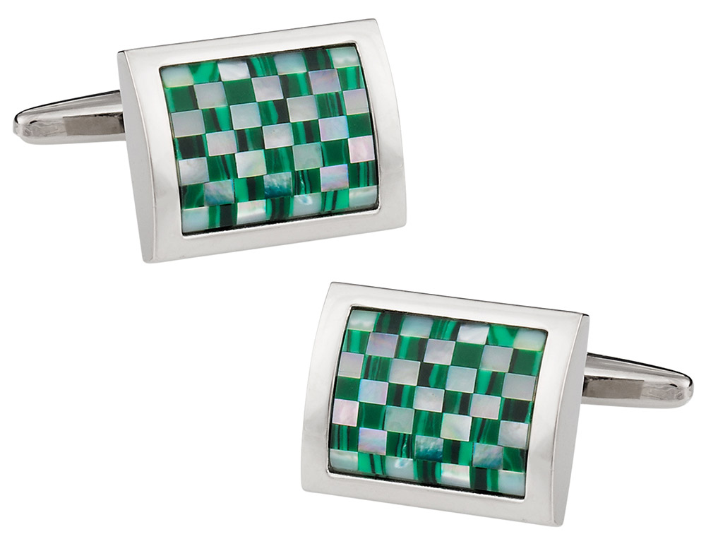 Malachite and Mother of Pearl Cufflinks