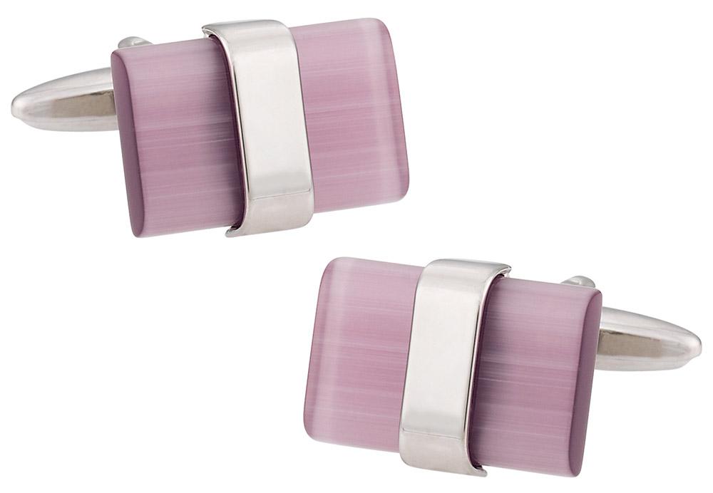 Suspended Pink Cufflinks