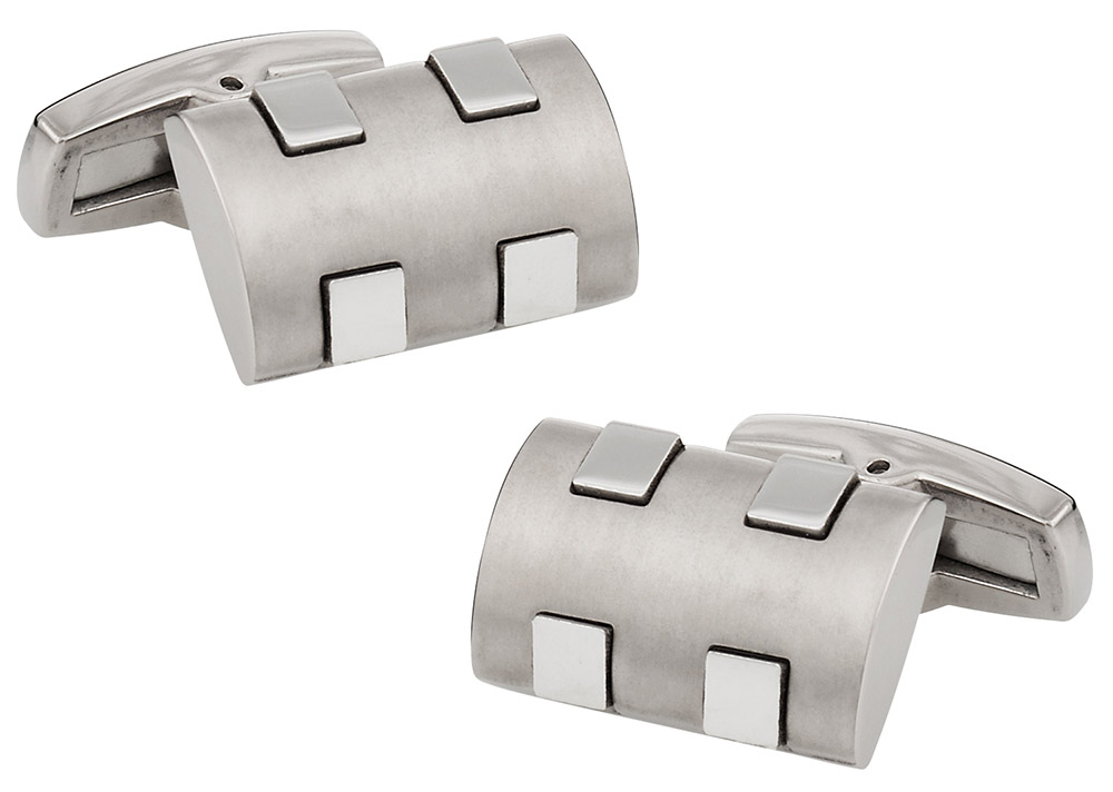 Matte and Polished Titanuim Cufflinks