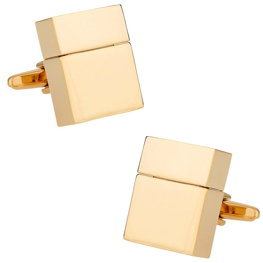 USB Flash Drive Cufflinks in Goldtone 4GB