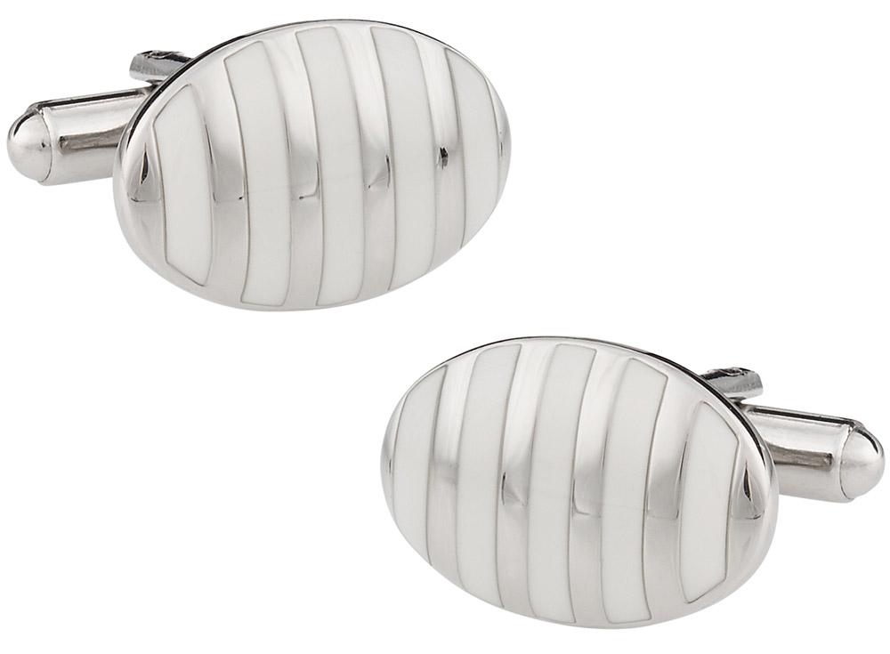 Vertigo Cufflinks in White