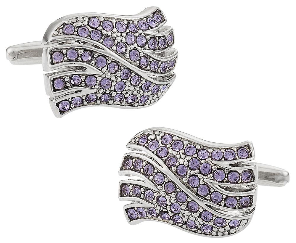 Wavy Purple Cufflinks
