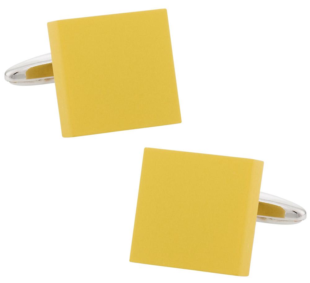 Bold Yellow Cufflinks | Canada Cufflinks