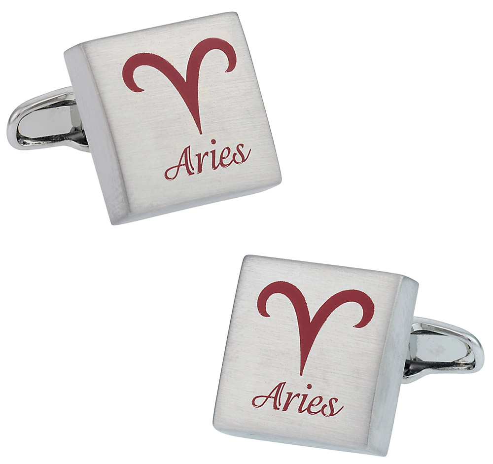 Aries Horoscope Cufflinks