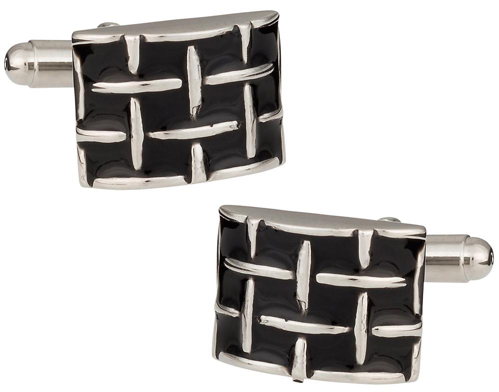 Black Woven cufflinks